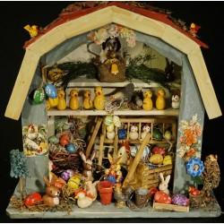 Antik candycontainer, Mølle, h. 12 cm (på hus).