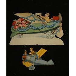 2 antique scrap, airplanes,...