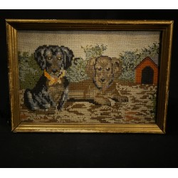 Antique embroidered image,...