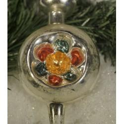 Old glass ornament, tree...