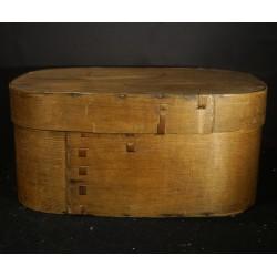 Tall, antique chip basket,...