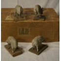 Antique sheeps and ram, size: 6 x 8 cm.