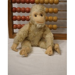 Old cuddly toys, monkey, l: 33 cm (extensive)