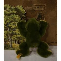 Old Steiff frog, h: 15 cm.