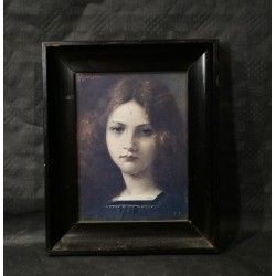 Old picture, girls face, size: 27 x 22 cm. (2)
