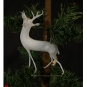 Old glass ornament, Lauscha 1930, deer, h: 11,5 cm.