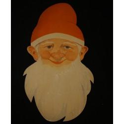 Gammel julemand i pap, h: 35 cm.