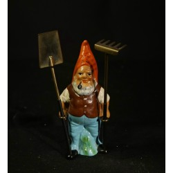 Antique elf with tools,...